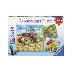 Ravensburger Puzzle 3er Set Puzzle, je 49 Teile, 21x21 cm, Große, Puzzleteile
