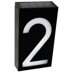Solar Beleuchtete Hausnummer, KEEDA Solar Hausnummerleuchte, Wasserdicht Solarhausnummer Aussen