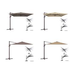 Madison MONACO FLEX Alu-Ampelschirm - neig- und drehbar 330cm rund taupe/greige