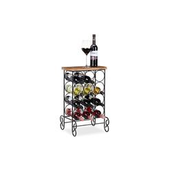 relaxdays Weinregal Design Weinregal für 12 Flaschen