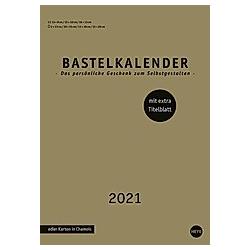 Bastelkalender gold A4 2021 - Kalender