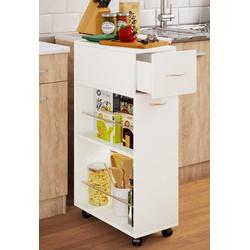 VCM Küchenwagen Nische Küchenwagen Tusal mit Schublade weiß