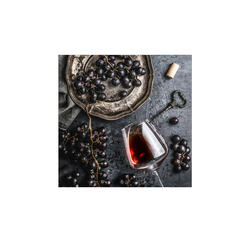 Glasbild 30x30 cm  Wein und Trauben