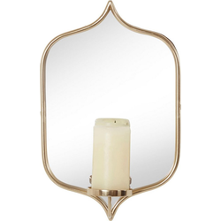 Leonique Wandkerzenhalter, Wandleuchter, Kerzenhalter, Kerzenleuchter, Wanddeko, Wanddekoration, mit Spiegel