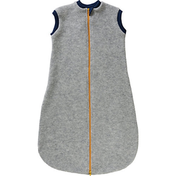 Baby Schlafsäcke aus Wollfleece hellgrau Gr. 74/80