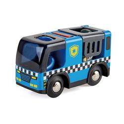 Hape Spielzeug-Eisenbahn Polizeiauto mit Sirene