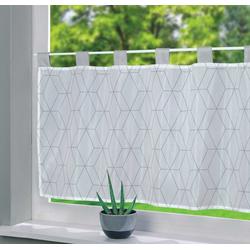 Scheibengardine, Gardinenbox, Schlaufe (1 Stück), Voile Ulm Sichtschutz Küchenfenster 202071 100 cm x 50 cm