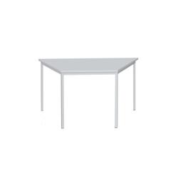 Lüllmann Schreibtisch Schreibtisch Trapeztisch, 750 x 1400 x 700 mm (1-St), Maße: 750 x 1400 x 700 mm (HxBxT) grau