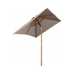 Holz Sonnenschirm für den Balkon, 200 x 155cm, rechteckiger Balkonschirm, Sonnenschutz bis UV 50+,