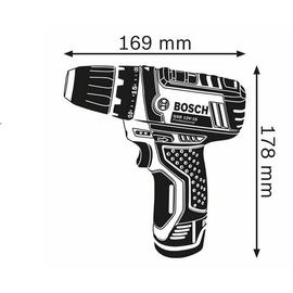 Bosch GSR 12V-15 Professional inkl. 3 x 2,0 Ah + L-Boxx 0615990GS8