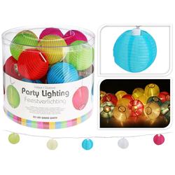 Lampion Gartenlichterkette 20 LED - Partybeleuchtung Lichterkette IP44