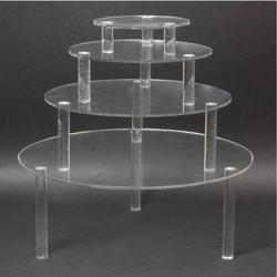 Schmuckständer- Set 4er Acryl rund