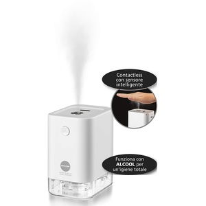 Macom kabelloser Hand-Sanitär, wiederaufladbar mit USB-Contactless mit intelligentem Sensor, Weiß, Reisegröße