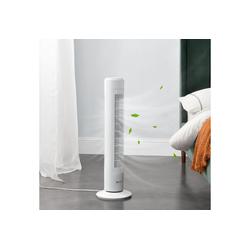 in.tec Turmventilator, Towervent Oszillation Säulenventilator weiß