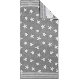 DYCKHOFF Stars Handtuch 50 x 100 cm grau