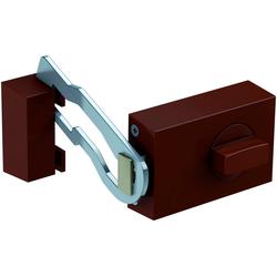 BASI Kastenriegelschloss KS 500, Din Rechts und Din Links, Dornmaß 45 mm - braun (eckig), Sperrbügel