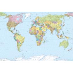 Komar Fototapete World Map, (4 St)