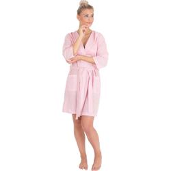 Damenbademantel 6352, Wewo fashion, aus leichtem Pestemal rosa L