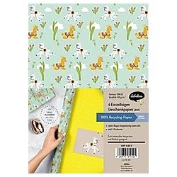 Geschenkpapier-Set für Kinder  Lama/Alpaka