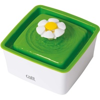 Catit 43735W 2.0 Mini Blumentrinkbrunnen 1.5 l, weiß/grün