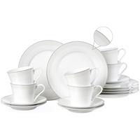 Ritzenhoff & Breker Kaffeeservice Venezia (18-tlg), Porzellan, puristisches Design