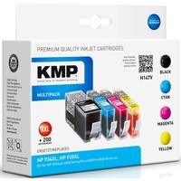 KMP H147V kompatibel zu HP 934XL schwarz + HP 935XL CMY