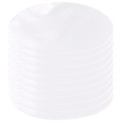 Schnellhaftende Bügelflicken aus Baumwolle, 10 Stück in weiß