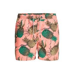 JACK & JONES Badeshorts Ananas Tropisch
