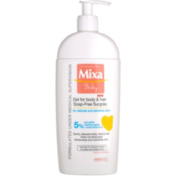 MIXA Baby Duschgel & Shampoo 2 in 1 für Kinder 400 ml