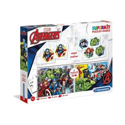 Clementoni® Puzzle Spiele & Puzzle Superkit - The Avengers, Puzzleteile