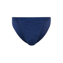 Skiny Slip Herren Tanga-Slip - Cotton Rib, Unterhose, blau L