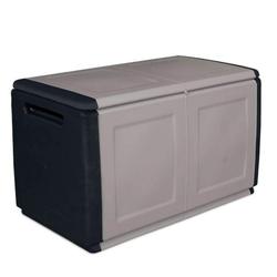 Aufbewahrungsbox mit deckel aus kunststoff, 960 x 570 x 530 mm, grau