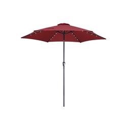 Kingsleeve Sonnenschirm, LED-Beleuchtung rot