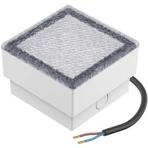 LED Pflasterstein Bodenleuchte CUS, 10x10cm, 230V, blau