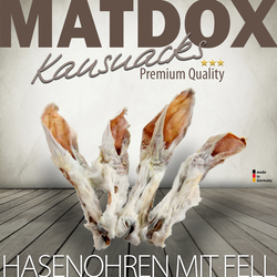 MATDOX Getrocknete Hasenohren mit Fell - 5 Stück