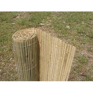 Bambuszaun, Bambus Sichtschutzmatte, Bambusmatte 500 cm H 100 cm, gespalten