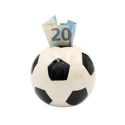 Dekohelden24 Spardose Spardose Fussball in schwarz weiss, ca. 10 x 10, (1-tlg)