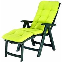 BEST Freizeitmöbel Florida 61 x 66 x 112 cm grün klappbar inkl.Polsterauflage