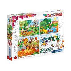 Clementoni® Puzzle Puzzle-Set 20/60/100/180 Teile - Jahreszeiten, Puzzleteile