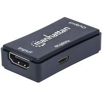 Manhattan HDMI-Repeater, ( HDMI-Signalverstärker, verlängert 4K-Video und Audio auf bis zu 40 m