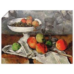 Artland Wandbild Stillleben mit Obstschale, Arrangements (1 Stück) 80 cm x 60 cm