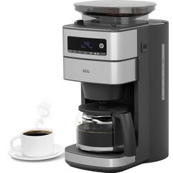 AEG Kaffeemaschine mit Mahlwerk CM6-1-5ST Gourmet 6, 1,25l Kaffeekanne, Permanentfilter 1x4