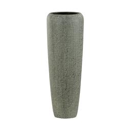 Dehner Dekovase Pflanzvase, Ø 34 cm, Höhe 97 cm, Polystone, grau