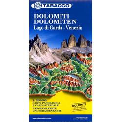 Dolomiti / Dolomiten Road Panoramic Map 1 : 200 000