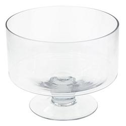Glasschale mit Fuß, 25 cm Ø
