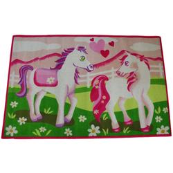 Kinderteppich Spielteppich Pferd Pony, AWE ASSOCIATED WEAVERS, Rechteckig, Höhe 5 mm, 120 x 80 cm