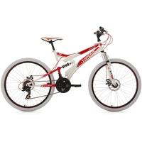 KS-CYCLING Topeka 26 Zoll RH 44 cm weiß/rot