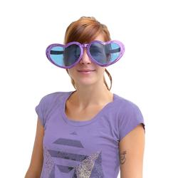 Jumbo Herz Brille übergroß Damen - lila