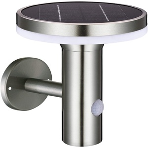 Proventa | Design Solar LED-Leuchte mit Bewegungsmelder | Außenleuchte mit Bewegungsmelder | Außenlampen | Wandleuchte | Pfostenleuchte | Gehwegleuchte | Außenleuchte | Solarleuchten | 6W | 600 Lumen