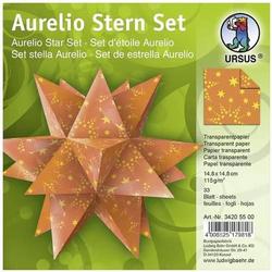 Faltblätter Aurelio Stern Sternenglanz 115g/qm 14,8x14,8cm orange